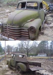Old truck found while clearing for subdivision