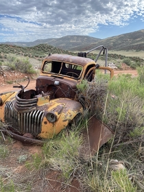Old truck used for mining out in the CO foothills