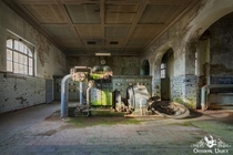 Old turbine in abandoned German textile factory