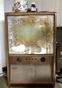 Old TV set left inside an abandoned grade II listed mansion If youd like to see more Ill pop a link in the comments