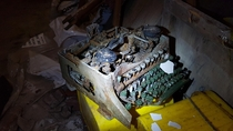 Old typewriter in an abandoned chocolate factory in germany