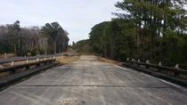 Old US- near Beaufort SC Likely abandoned after I- was brought through Abandoned bridges are stamped  Updated -Lane Frontage Rd bridges are stamped