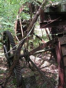 Old waterwheel in the forests of Georgia