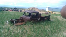 Old Willys pickup not much left