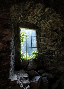 Old Window at an abandoned Monastery Austria