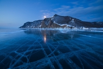 Olkhon Island three days after the full moon Lake Baikal Russia