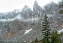 Ominous clouds over Lake Serene Washington