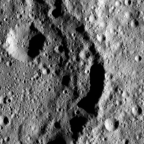 Omonga Crater on Ceres