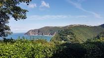 On a walk in Lynton England