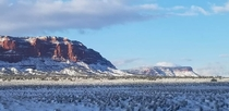 On a winter trip through the Southwest and snapped this today between Page AZ and Kanab UT