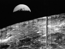 On August   Lunar Orbiter  took the first photograph of Earth as seen from the moon