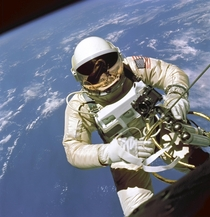 On June   Edward H White II became the first American to step outside his spacecraft and let go setting himself adrift in the zero gravity of space For  minutes White floated and maneuvered himself around the Gemini spacecraft while logging  miles during