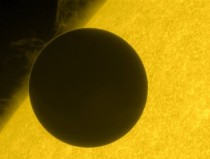 On June   Hinode captured this stunning view of the transit of Venus  I wish it was higher resolution but alas its still an excellent photograph