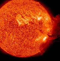 On June   the Sun unleashed a medium sized solar flare
