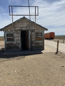 On my walk from Scottsbluff to Denver I came across this gem Has a bunch of railroad communication equipment inside door was unlocked