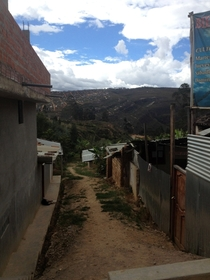 On the edge of town Chachapoyas Peru