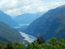 On the road to Doubtful Sound New Zealand