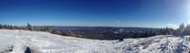 On the summit of Mt Greylock the highest peak in Massachusetts  ft X