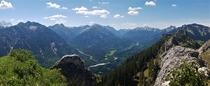 On The Top of Am Zahn Looking SW Over the Ammergebirge in the Bavarian Alps