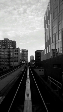 On the tracks in Vancouver Canada