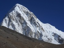On the trail to Everest Base camp Pumo Ri and Kala Patthar Nepal