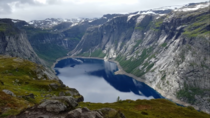 On the way to Trolltunga Norway  hour hike  km