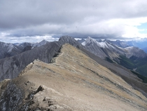 On top a Mountain in Maligne Lake Area Alberta Rockies
