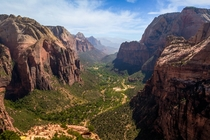 On top of Angels Landing Zion National Park UT
