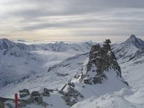 On top of the Alps Great view from the Hintertux Glacier Austria