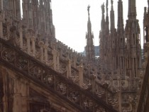 On top of the Duomo in Milan Italy