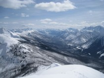 On top of Vermillion Peak Kananaskis Country Canada
