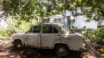 Once an Icon now Abandoned Ambassador Car India