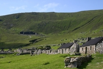 Once home to Britains most isolated community St Kilda has been abandoned since  when accidental pollution of the land crop failure and an unsustainably low population drove the remaining St Kildans off the island