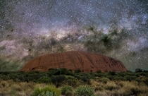 Once upon a time on a moonless night Uluru Australia