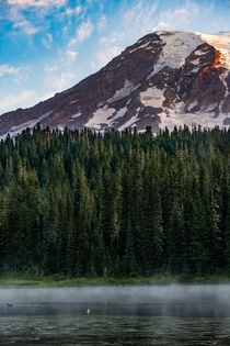 One day Im going to drive into a ditch because I cant stop staring at the mountain - Mt Rainier from Reflection Lakes