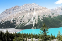 One end of Peyto lake Alberta Canada OC