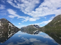 One ferry a day takes hikers to climb Besseggen Norway