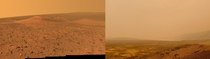 One is Mars the other is California today