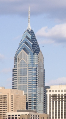 One Liberty Place Philadelphia PA -reminiscent of the Chrysler Building NYC