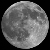 One-of-a-kind photograph of the International Space Station ISS transiting the moon Image byTheirry Legault x