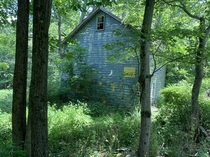 One of many abandoned houses found while surveying a  acre estate