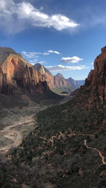 One of my favorite hikes Angels Landing in Zion National Park