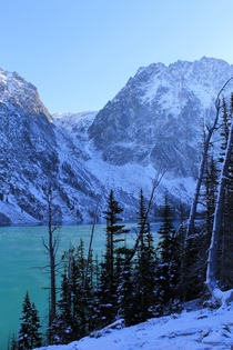One of my favorite hikes in the Pacific Northwest- Colchuck Lake in winter near Leavenworth Washington