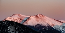 One of my favorite images of the alpenglow in Estes Park Colorado