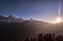 One of my favorite shots from  Sunrise in Nepal