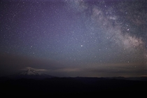 One of my favorite spots to look at Mt Hood and the Milky Way