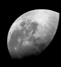 One of my first photos ever using a telescope Telescope was from my school so Im not sure the details