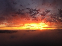 One of my oldest iPhone photos- amazing sunset above a sea of clouds on Marys Peak Oregon