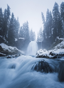 One of Oregons many beautiful waterfalls They only get better in Winter