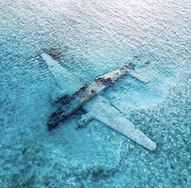One of Pablo Escobars abandoned drug smuggling planes in the Bahamas